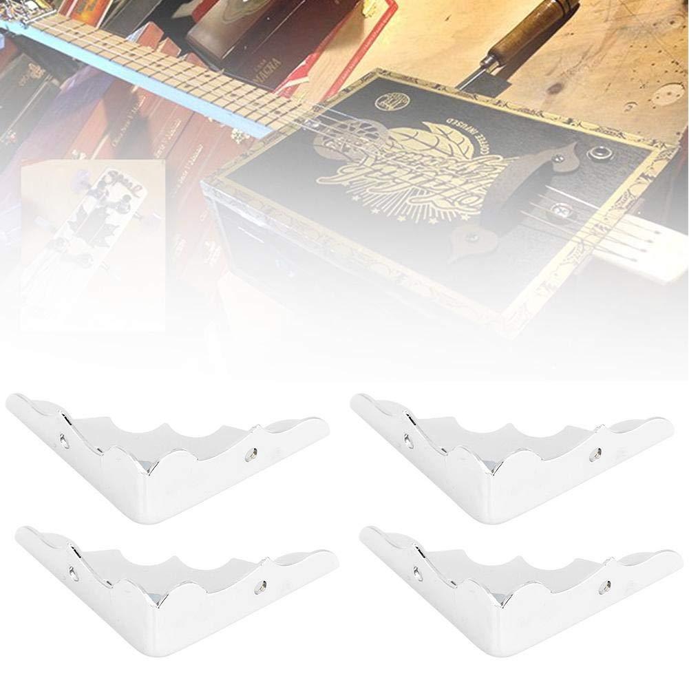 Bnineteenteam 4 ST/ÜCKE Gitarre Teile Silber Ecke Dekorative Kantenschutz Kantenschutzbox Eckensch/ützer Pad Eckenschutz