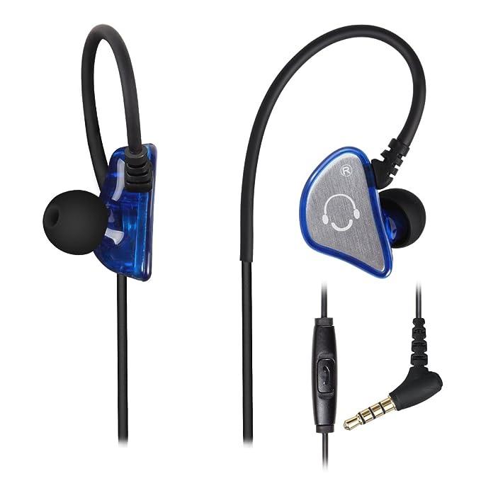YILON Auriculares con cable, auriculares deportivos intraurales ...