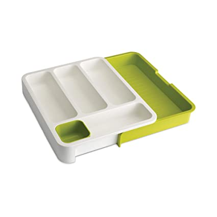 a491eef23198 Amazon.com - Joseph Joseph 85041 DrawerStore Expandable Cutlery Tray, Green  - Cabinet Drawer Trays
