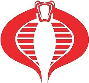 "GI Joe American Hero Cartoon Cobra Logo Stickers Symbol 5.5"" Decorative DIE Cut Decal for Cars Tablets LAPTOPS Skateboard - RED"