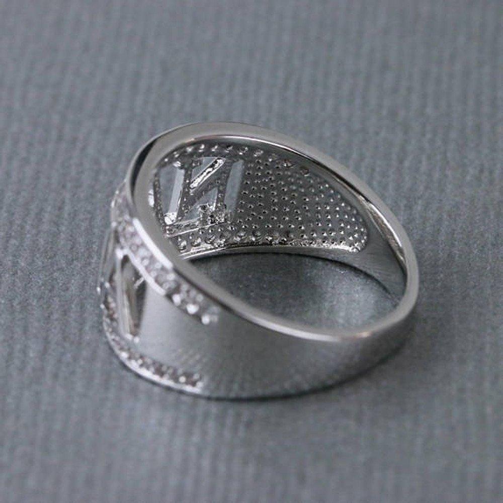 Mysky Exquisite Nana Ring Cubic Zirconia Diamond Nana Birthday Present Silver