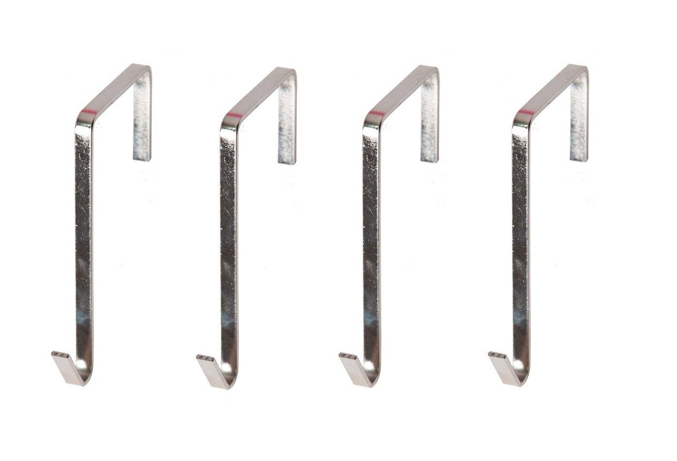 NIMES Over The Door Hanging Metal Hooks Hangers (4 Packs)