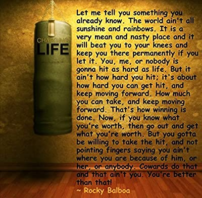"""LET ME TELL YOU SOMETHING Rocky... Balboa Quotes Poster 12 x 18 """""""