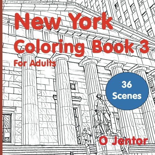 New York Coloring Book For Adults 3 Travel And Color Wall