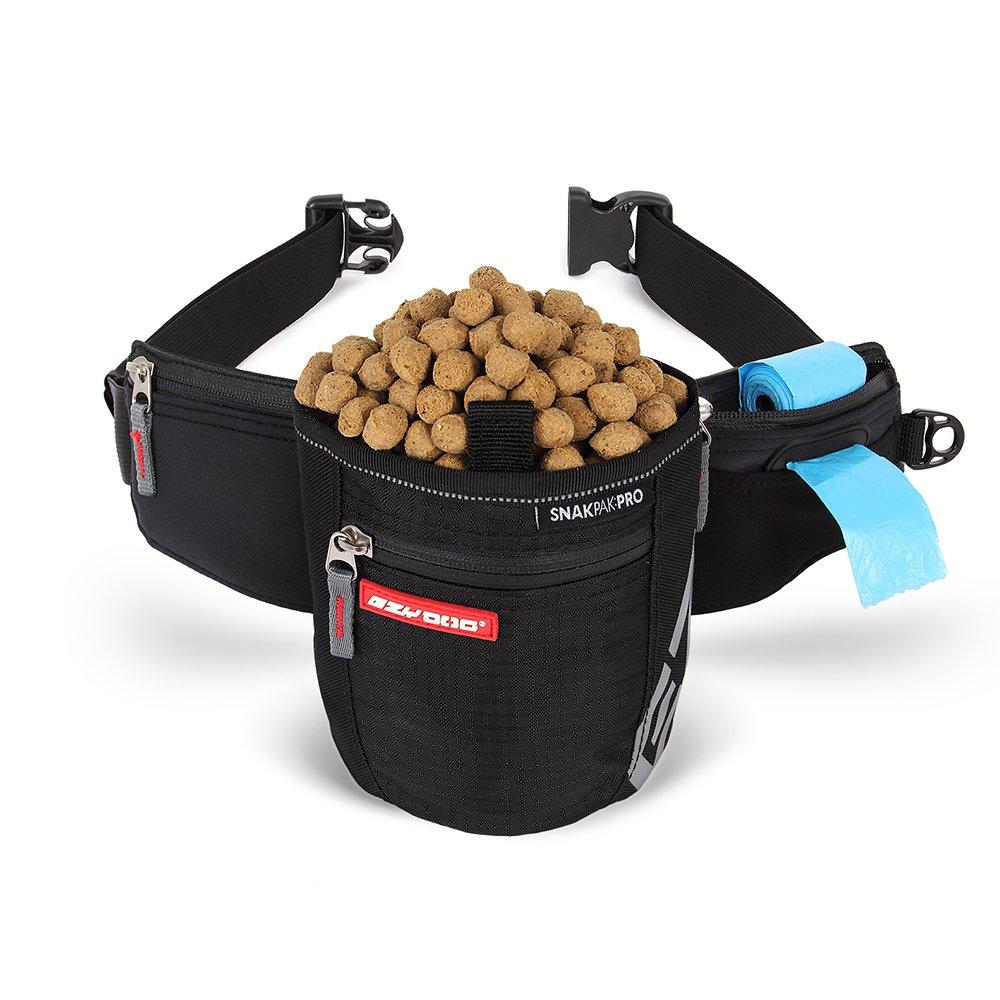 EzyDog SnakPak Pro Wearable Dog Treat Bag Waterproof Training Pouch with Pick-Up Bag Dispenser and Belt