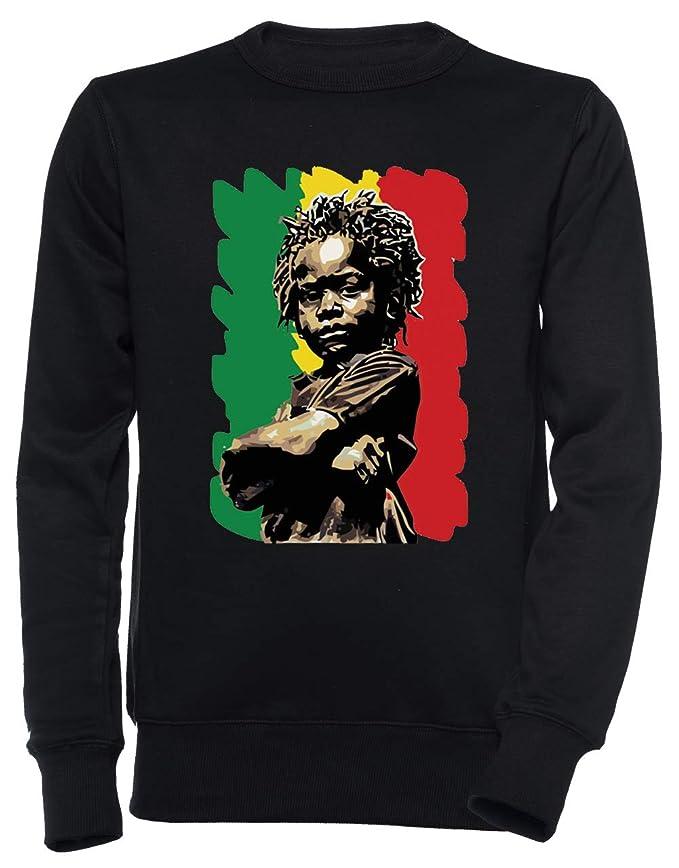 Erido Africano niño Rasta - Rastaman Unisexo Hombre Mujer Sudadera Jersey Pullover Negro Todos Los Tamaños Mens Womens Jumper Black: Amazon.es: Ropa y ...