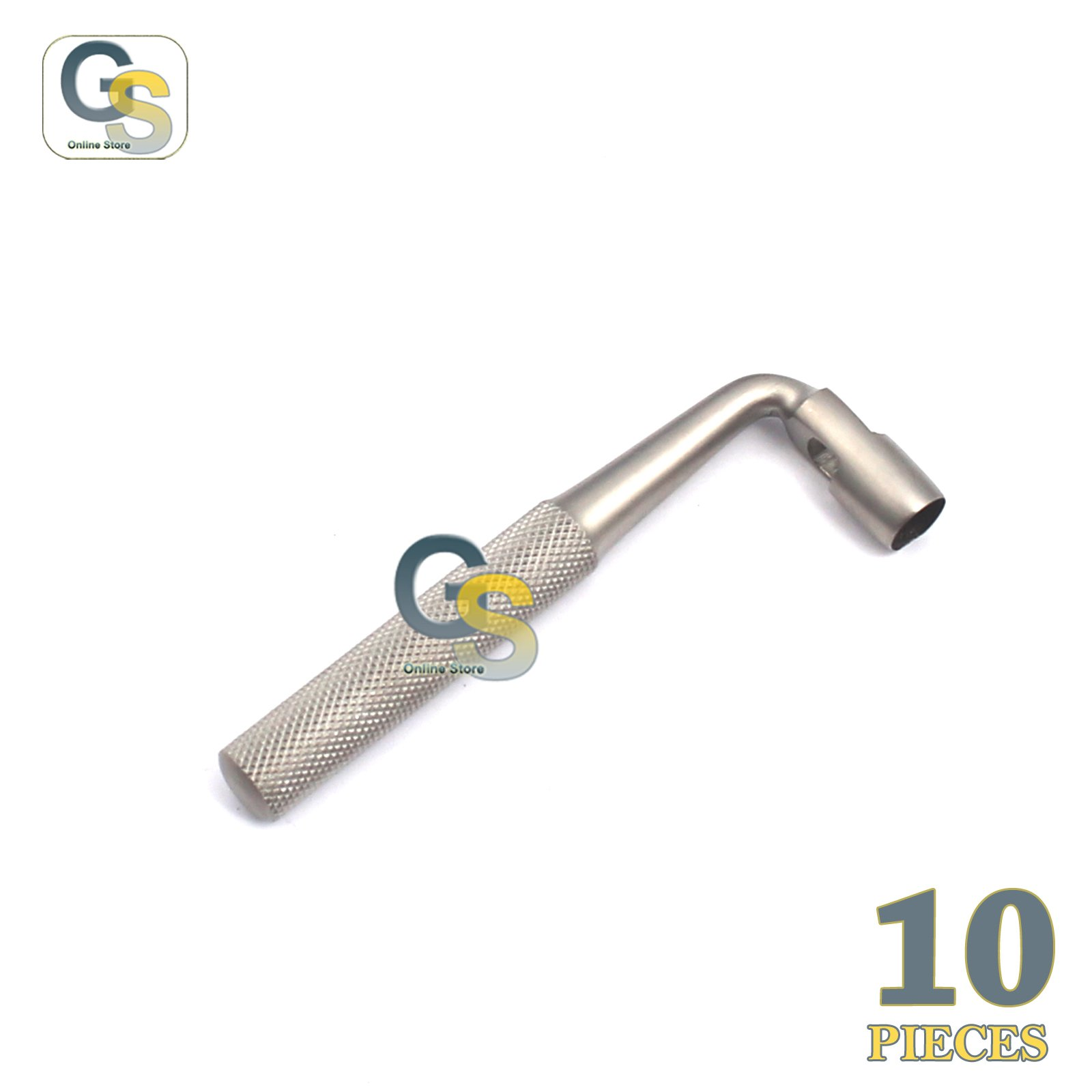 G.S 10 PCS TISSUE PUNCH 5MM ANGLED/OFFSET/CURVED DENTAL IMPLANT STAINLESS STEEL INSTRUMENTS BEST QUALITY