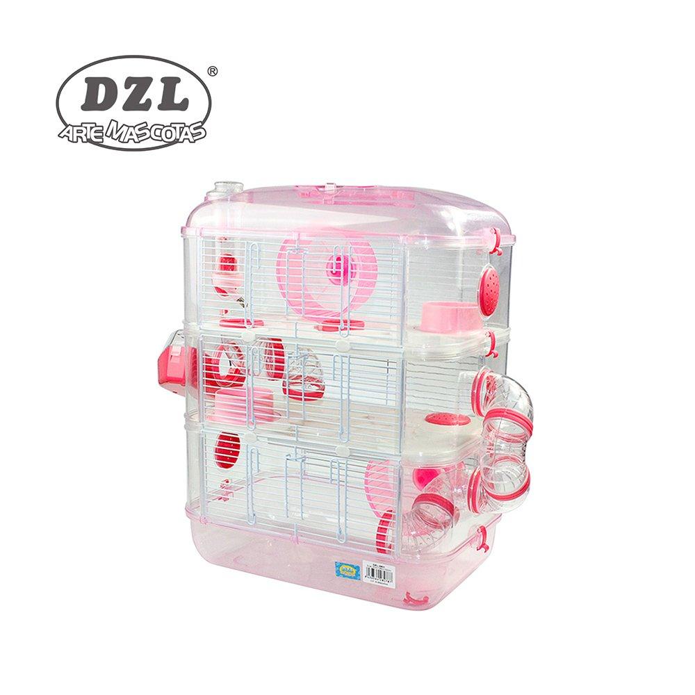 DZL Jaula para Hamster de plástico Duro, caseta Bebedero comedero Rueda Todo Incluido (1 Piso, 2 Piso, 3 Piso) (3 Piso, Verde Menta): Amazon.es: Productos ...