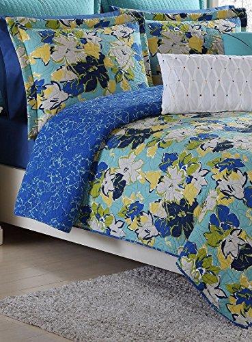 Fiesta Sedona Reversible Quilt Set-Twin-Lapis Blue-with Pillow - Sedona Set Bedding