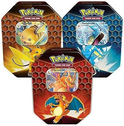 Promo Card TCG Pokemon Hidden Fates Gyarados Tin 4 Booster Packs