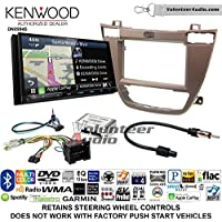 Volunteer Audio Kenwood Excelon DNX994S Double Din Radio Install Kit with GPS Navigation Apple CarPlay Android Auto Fits 2011-2013 Buick Regal (Brown)