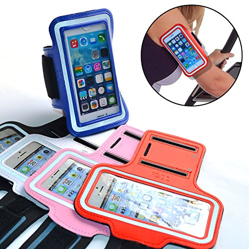 TFY Outdoor Sports Neoprene Armband Case + Key Holder for the iPhone 5/5S - White