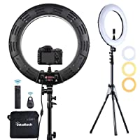 Deals on Inkeltech Ring Light - 18 inch Dimmable Bi-Color Light Ring