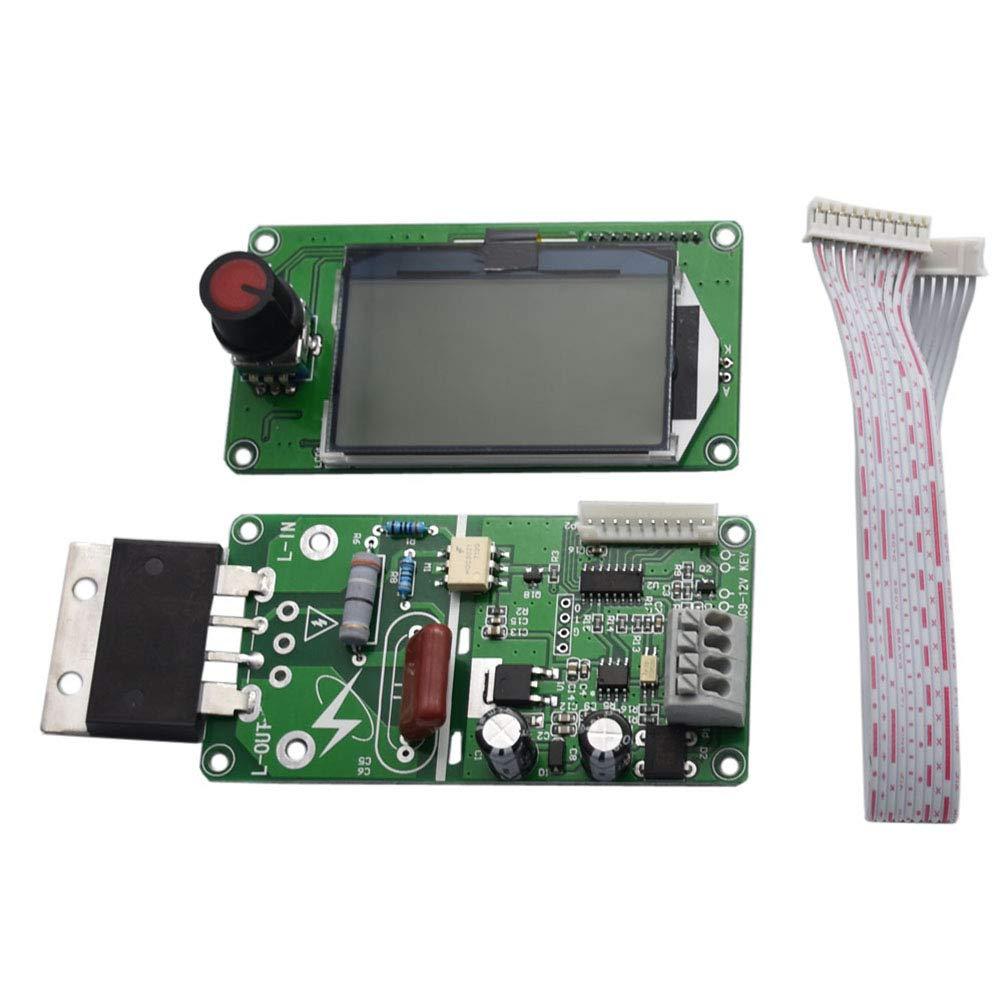 OUNONA Multi Pattern Encoder Dual Puls Local Welder Aktuelle Zeit Systemsteuerung LCD-Bildschirm 100A