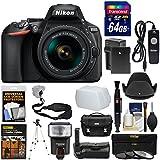 Nikon D5600 Wi-Fi Digital SLR Camera & 18-55mm VR DX AF-P Lens 64GB Card + Case + Flash + Battery & Charger + Tripod + 3 Filters + Kit