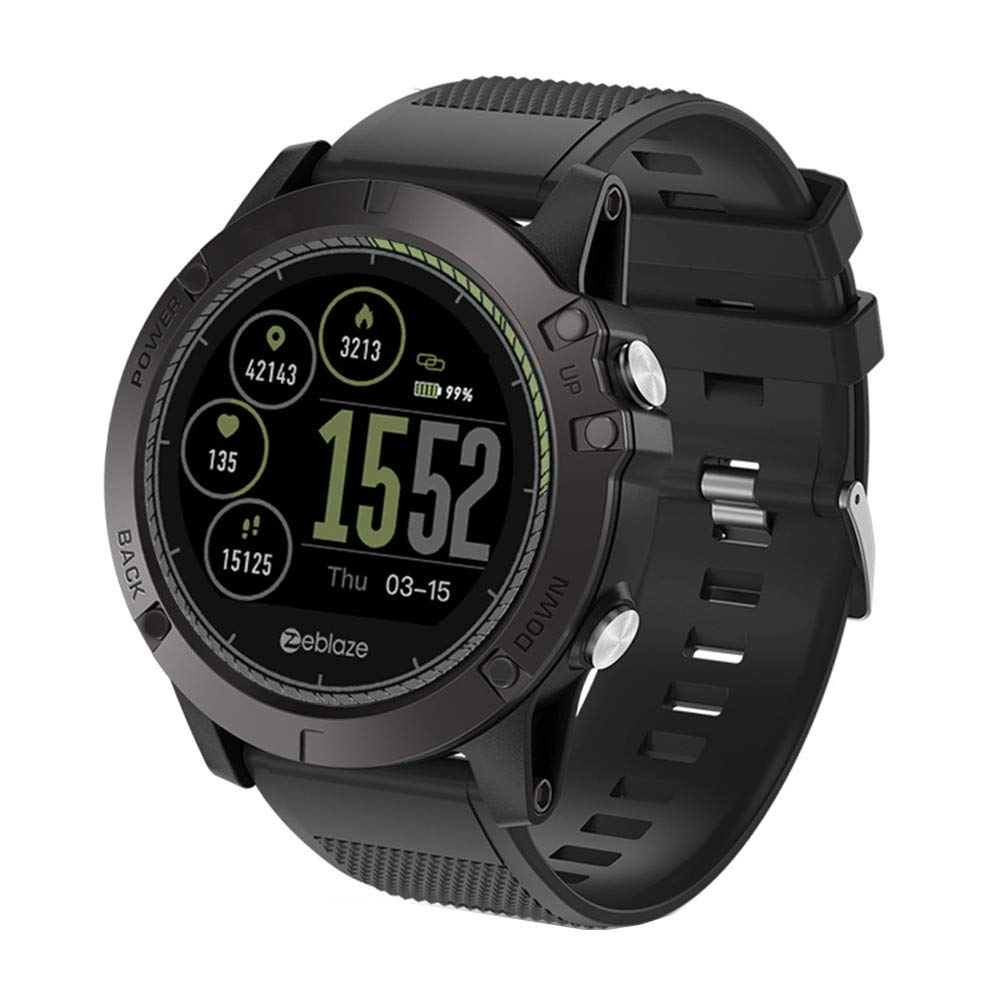 HR Smart Watch,1.22 inch IPS Screen Sports Watch Men All-Day Activity Tracking Waterproof Smartwatch for iOS/Android (Black) by Doad Smart watch