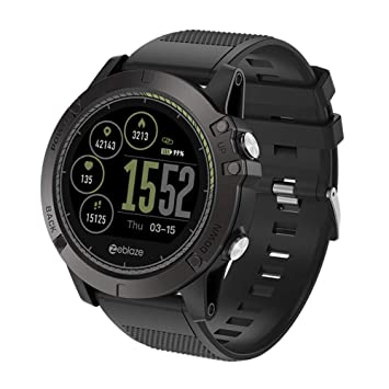 Skryo 👍👍 Zeblaze VIBE 3 HR Smart Watch Teléfono Sports Men Smartwatch PARA iOS/Android (black)