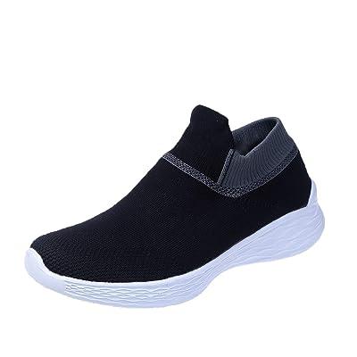 Happyqidayll Women's Walking Sock Shoes Lightweight Mesh Slip-on- Breathable Yoga Sneakers | Walking