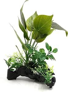 uxcell Plastic Aquarium Terrarium Plants Landscacpe Decorative Ornament for Reptiles Amphibians