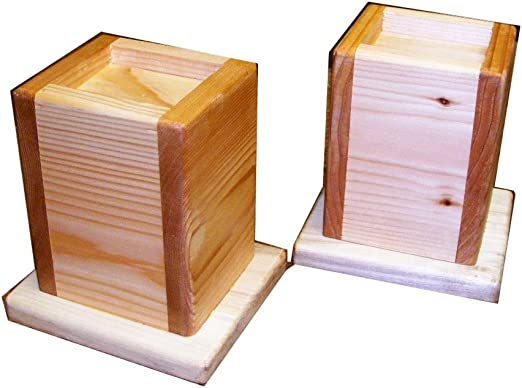 Set of 5 Wood Bed Lifters Bed Risers 5-Inch Lift Height 3-inch wide bed post