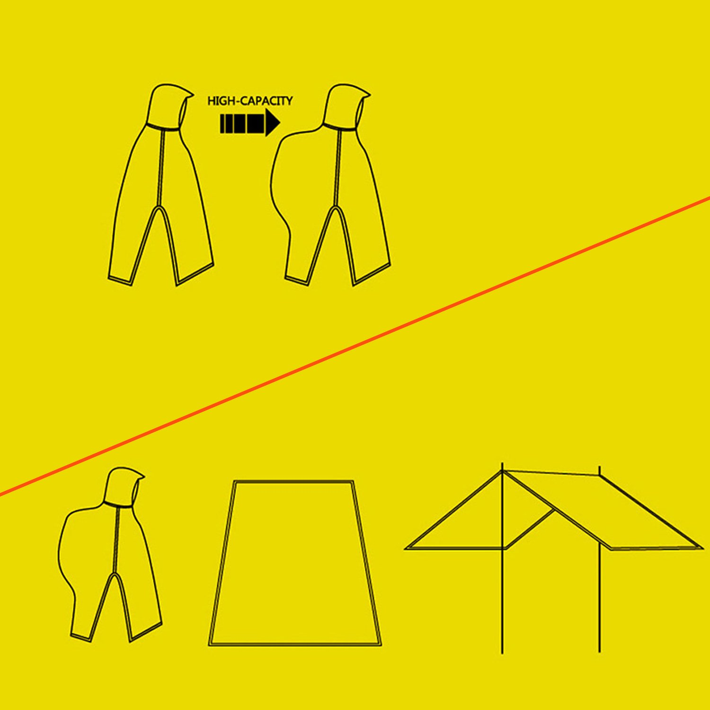 Sonnenschutz Plane Matte f/ür Rucksack Camping Wandern Picknick Angeln und Andere Outdoor-Aktivit/äten Upgrow Regenponcho 3 in 1-Multifunktional Wasserdicht Regenmantel mit Kapuzen