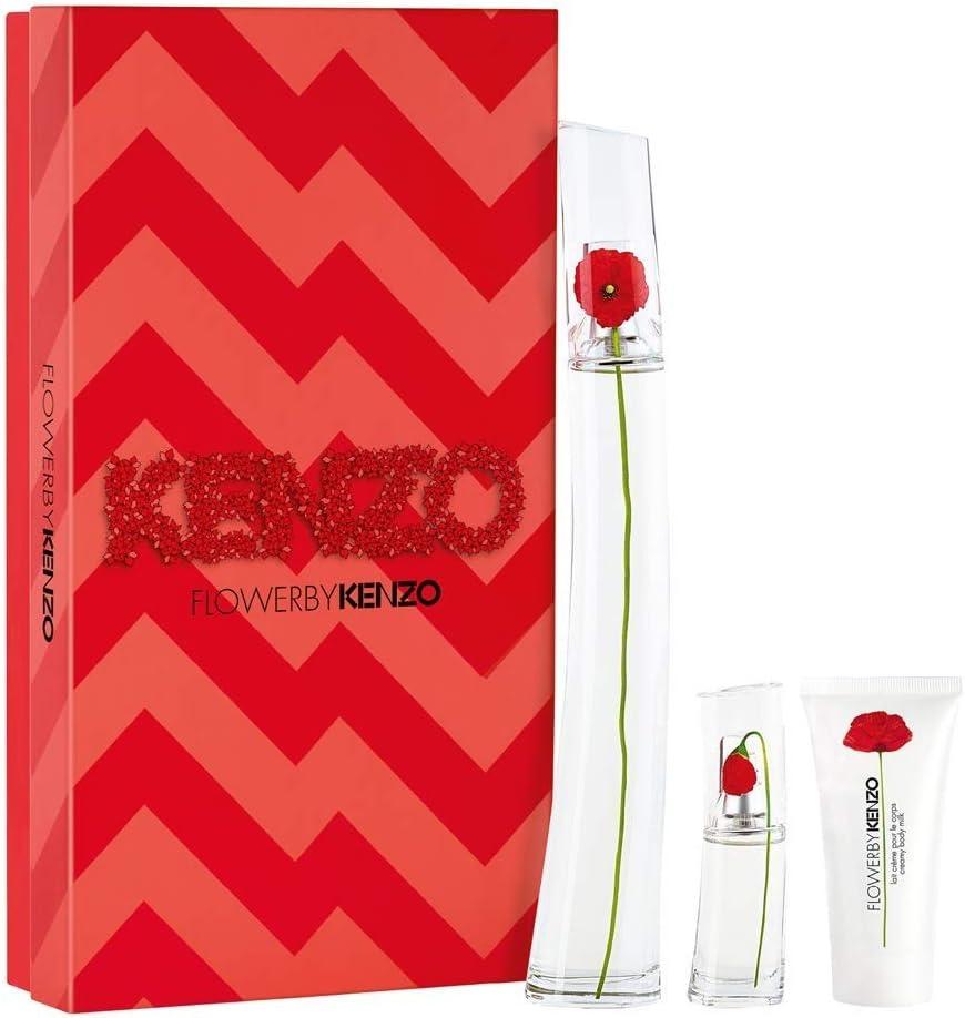 banner Kit Kenzo feminino Flower by Kenzo EDP 100ml + Loção Corporal 50ml + Travel Size 15ml