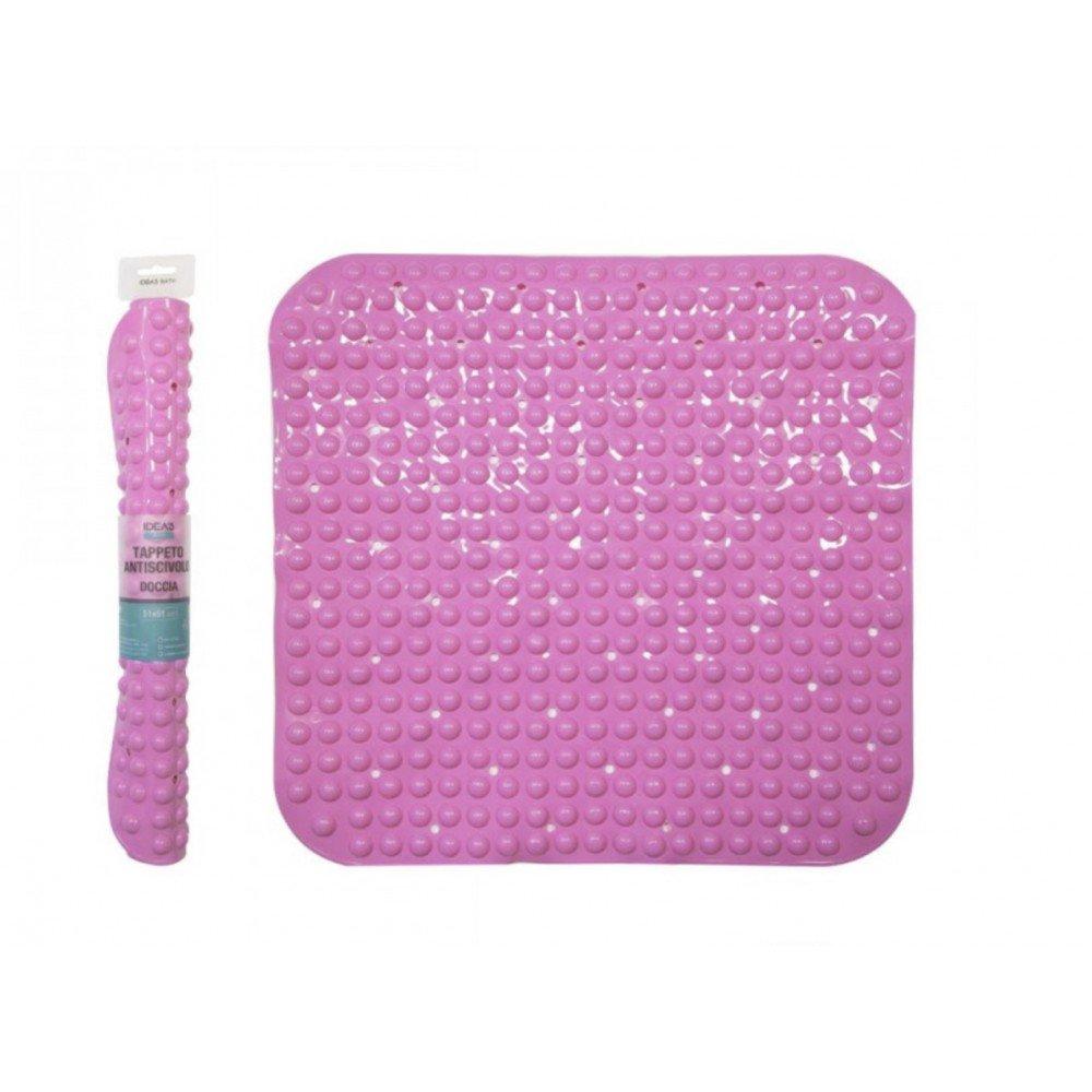 GIRM - Tappeto Antiscivolo massaggiante Quadrato 500gr Rosa - HX916775