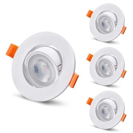 Luma Foco LED empotrable para techo, 60 °, redondo, GU10 bombillas