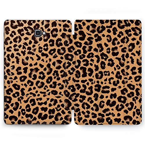 Wonder Wild Cheetah Shell Samsung Galaxy Tab S4 S2 S3 A E Smart Stand Case 2015 2016 2017 2018 Tablet Cover 8 9.6 9.7 10 10.1 10.5 Inch Clear Leopard Danger Animals Skin Fur Ornament Black Spot Blot]()