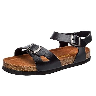 37cfa86ab281ce LHWY Sandalen Damen Sommer Mode Frauen Cross Toe Strap Rutschfeste Flache  Schuhe Strand Schuh Kork Hausschuhe