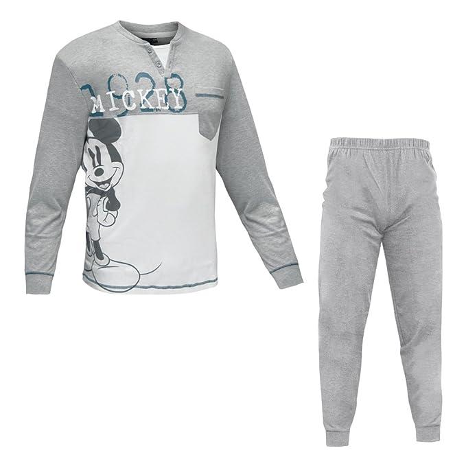 Disney - Pijama - para hombre Grigio Medio Melange 50/XL