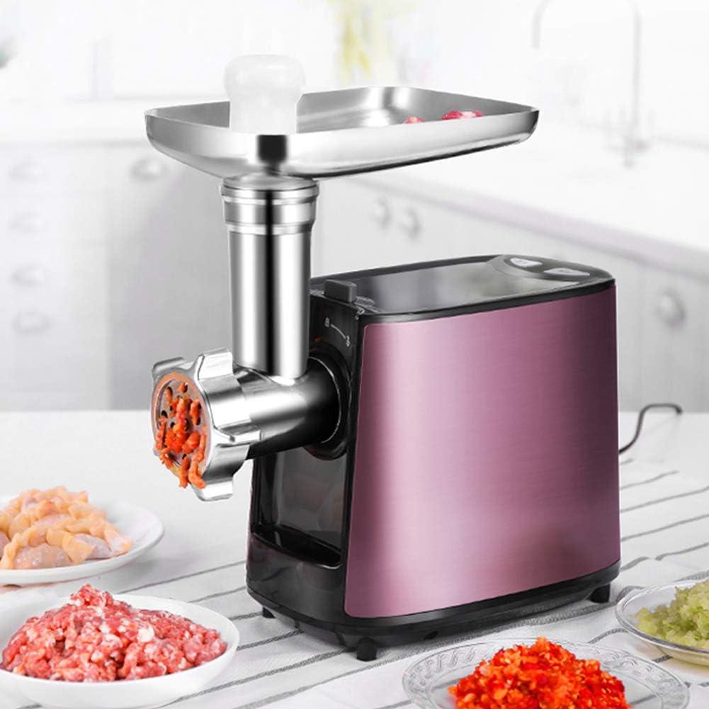 Fleischwolf Picadora De Carne Eléctrica Robot Cocina con Placas De Corte De Acero Inoxidable para Carne Y Salchichas: Amazon.es