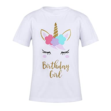 Amazon.com: CHICTRY Mythical Birthday Girl Classic Fit Fairy Princess T-Shirt for Kids Toddler Youth Girls 3-12: Clothing