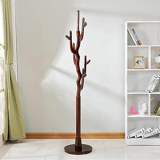 LXLA-Perchero de Madera Auspicioso Árbol Ropa Estante Ropa de pie Perchas de árbol de Tren Blanco Marrón Rojo Ámbar Amarillo195 * 40 * 40 Cm (Color : ...