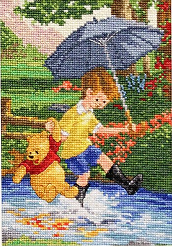 M.C.G. Textiles 52562 Christopher Robin and Pooh Vignette Di