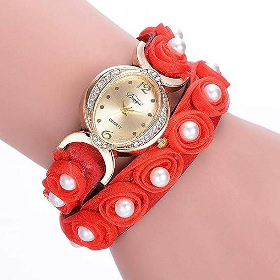 Scpink Relojes de Pulsera para Mujeres, Liquidación Reloj de Cuarzo Floral Reloj de Malla Reloj analógico Relojes para Damas Relojes para Mujeres Relojes de ...