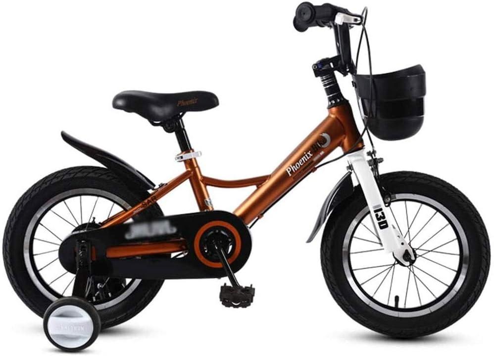 Bicicletas Niños De Bicicletas Niño Niña De Bicicletas Bicicleta con Rueda Auxiliar De Los Niños, Regalo del Niño, Marco De Acero De Alto Carbono