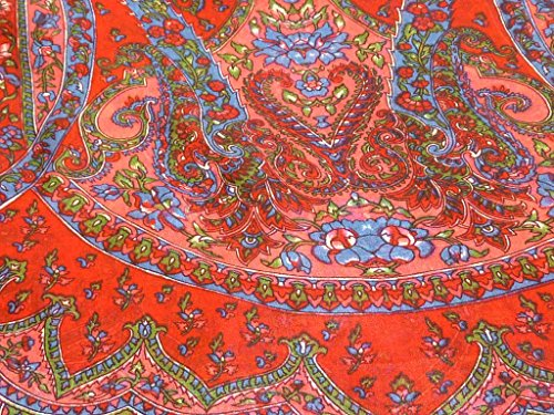 Foulard Gamme Traditional de Soie Motif Chamelia Red de Pashmina & Silk
