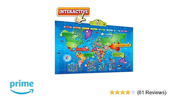 Amazon.com: Kids Interactive Talking World Map Touch Activated ...