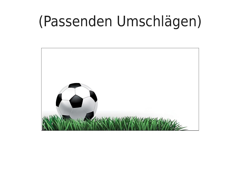 Set 11 Einladungskarten Kindergeburtstag Fussball
