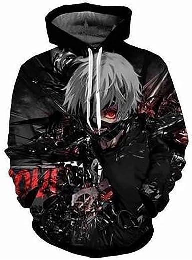 Anime Tokyo Ghoul Hoodie Sudadera con Capucha con Estampado 3D ...