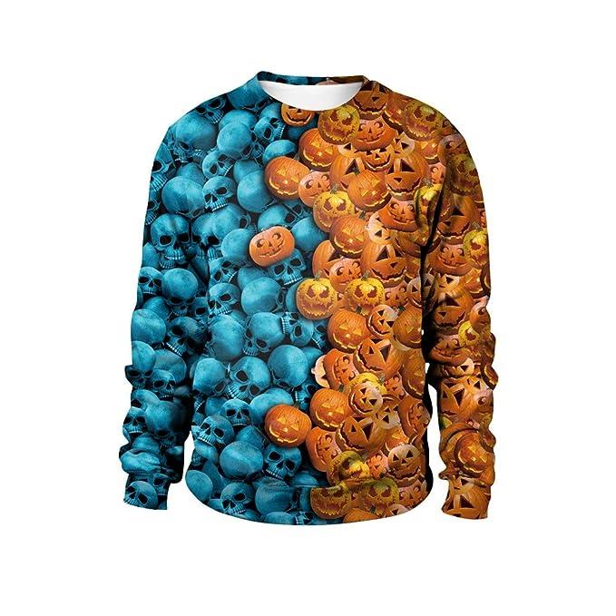 JYC-Sudaderas Mujer,Mujer Halloween Calabaza Shantou Impresión Fiesta Pull-Over Parte Superior Blusa Sudadera: Amazon.es: Ropa y accesorios