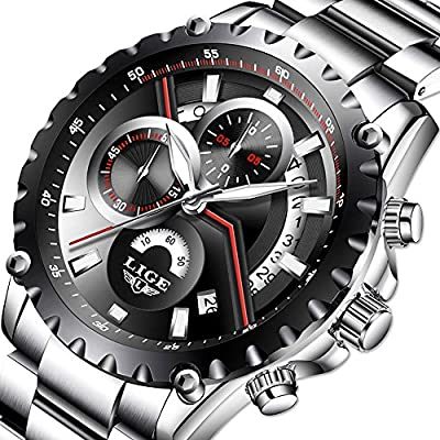 Men's Fashion Watch Sport Watch Quartz Watch Mens Watches Luxury Full Steel Business Waterproof Watch