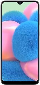 "Samsung Galaxy A30S w/On-Screen Fingerprint (64GB, 4GB) 6.4"", Triple Camera, Dual SIM GSM Unlocked A307G/DS - US + Global 4G LTE International Model (64GB + 64GB SD + Case Bundle) (White)"
