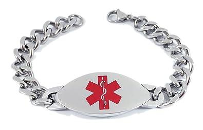super economico bellissimo a colori ben noto Max petals, braccialetto identificativo di allerta medica di ...