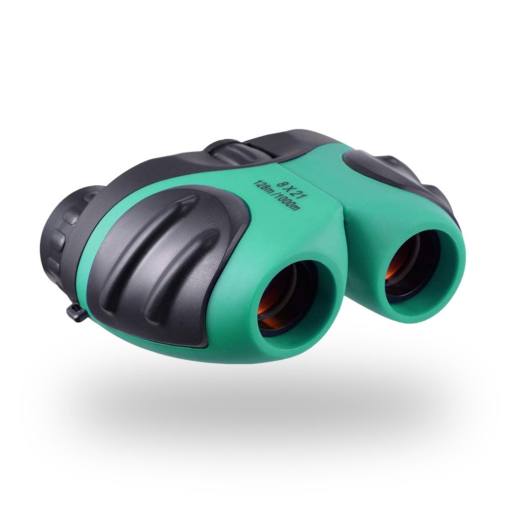 AGALORY Toys for 3-12 Year Old Boys and Girls - 8x21 Compact Kid Binoculars for Concerts Bird Watching Camping - Best Gift for 5-8 Year Old Kids (Green) by AGALORY