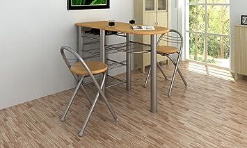 Tavolo da cucina con sedie set in legno: Amazon.it: Casa e cucina