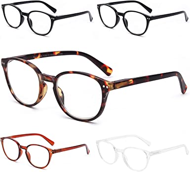 5 Pack Reading Blue Light Blocking Glasses for men and women