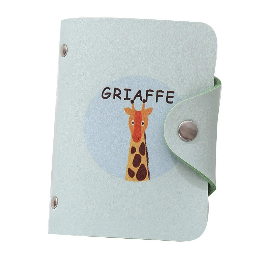 NRUTUP Fashion Creative Fresh Cute Animals Women Bank Card Package Coin Bag Credit Card(10.5X1X8cm,F)