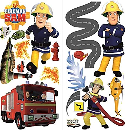 Feuerwehrmann Sam Wandsticker für Kinderzimmer,fireman sam ...